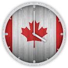 Canadian Wooden Flag Clock icon
