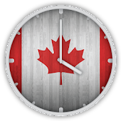 Canadian Wooden Flag Clock