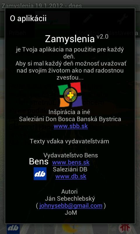 Zamyslenia- screenshot