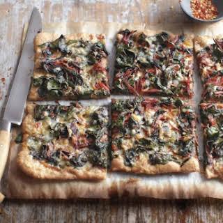 Swiss Chard, Garlic, and Gruyere Pizza.