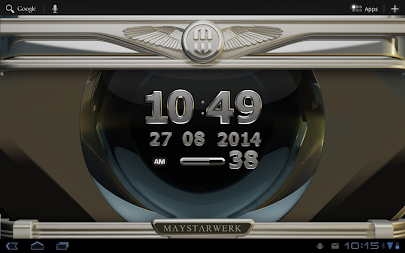 Digi Clock Widget Iron Sun APK screenshot thumbnail 8