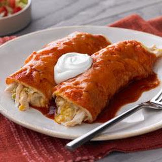 Chicken and Green Chili Enchiladas.