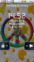 Screenshot of Tie Dye Peace Clocks Live