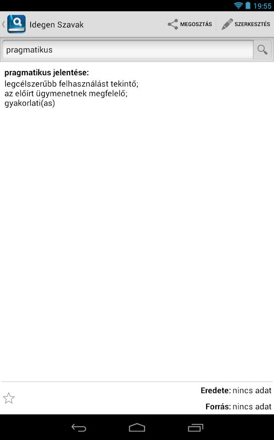 Idegen Szavak Gyűjteménye- screenshot