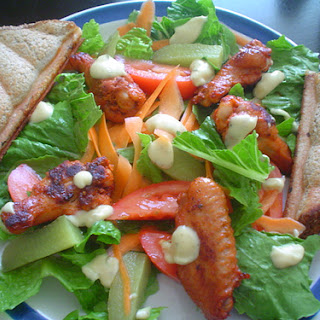 Chicken Wing Salad.