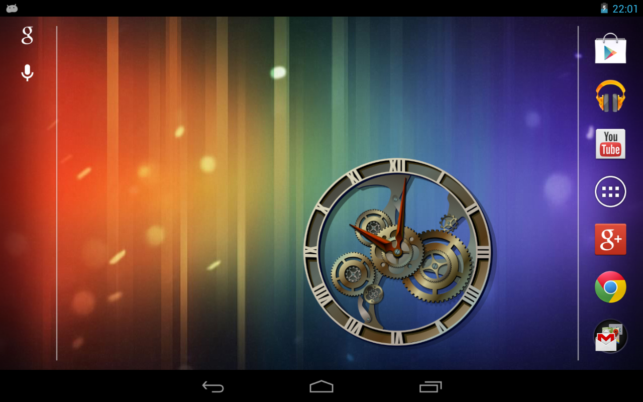 Steampunk Analog Clock Widget - screenshot