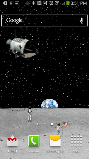 Moon Astronauts Live Wallpaper