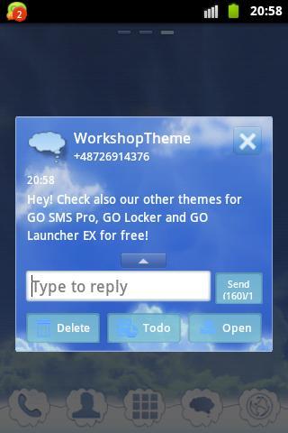 玩個人化App|SMSテーマ雲空にGO免費|APP試玩