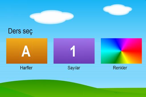 Türkçe Harfler Sayılar Renkler
