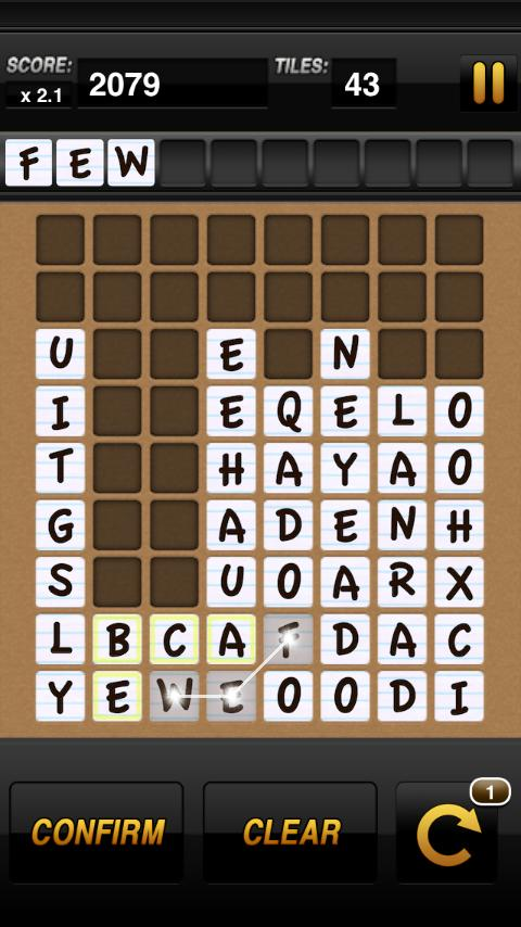 Word-Drop Mobile - screenshot