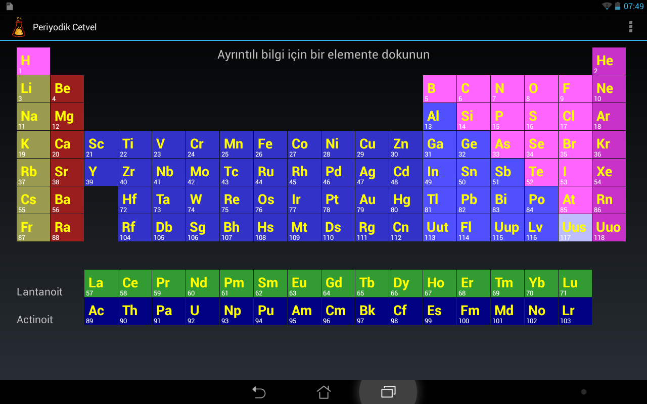 New periodic table android app download periodic android periodic table app download version table 134 by lri periodic urtaz Image collections