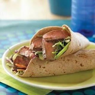 Mu Shu Steak and Apple Wraps