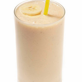 Peanut Butter & Banana Smoothie.