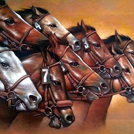 Lucky Stars by Jaime Gubaton - Painting All Painting ( lucky, stars, horse, gubaton )