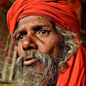 Staring Divine by Arnab Bhattacharyya - People Portraits of Men