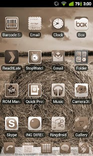 Sepia Theme for GO Launcher EX - screenshot thumbnail