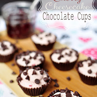 Cherry Cheesecake Chocolate Cups