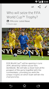 Sony's news app/Socialife News - screenshot thumbnail