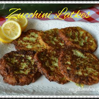 Zucchini Latkes fresh from the Garden