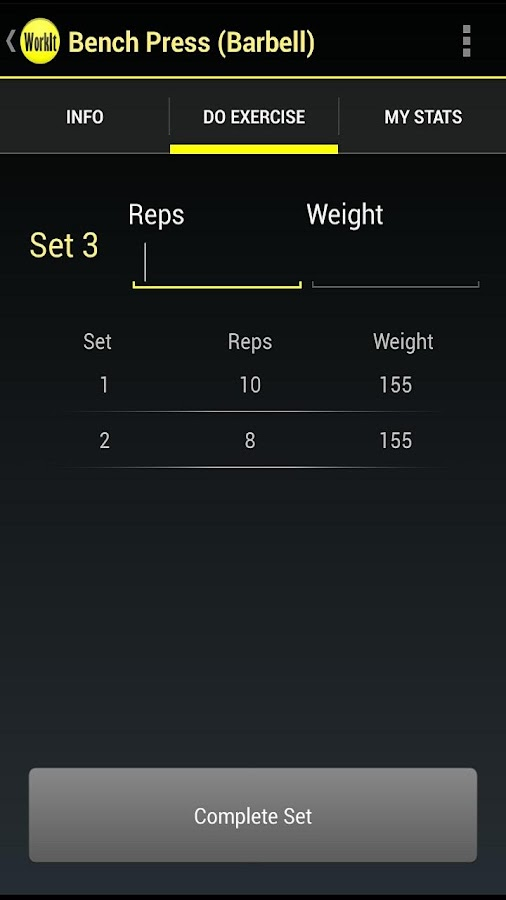 WorkIt - Gym Workout Tracker - screenshot