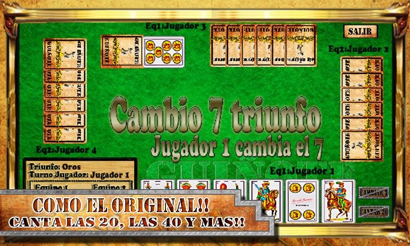 Guiñote - Juego de Cartas: captura de pantalla