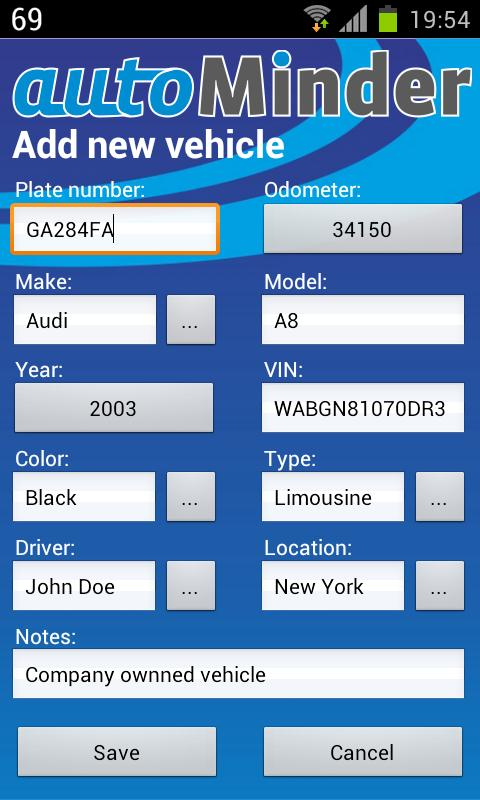 autoMinder (free version)- screenshot