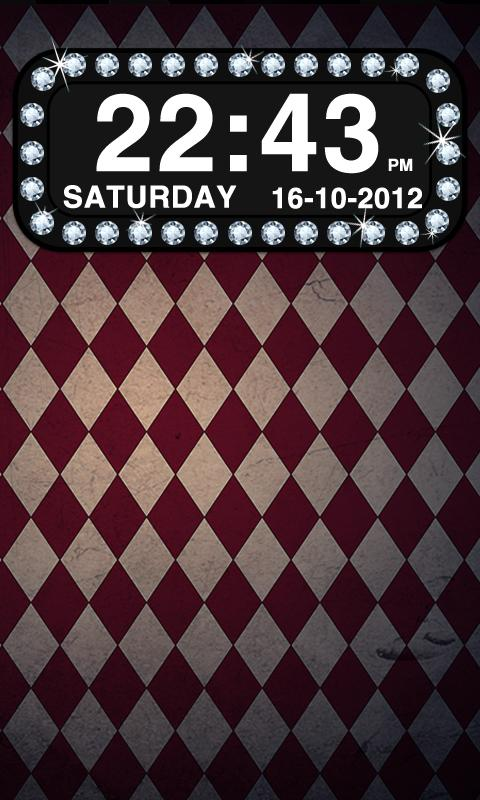 Diamond Clock Widget - screenshot