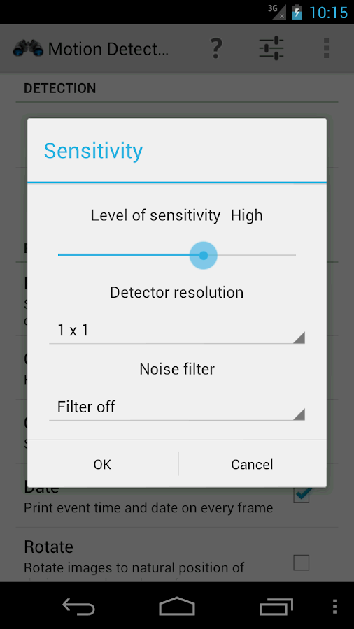 Motion Detector- screenshot