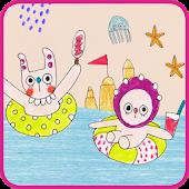 바다 깡깡이 카카오톡 테마
