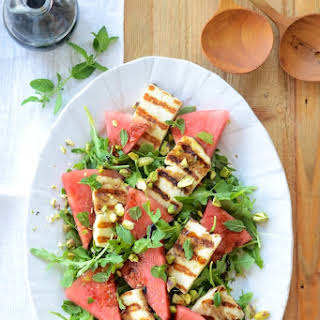 Grilled Haloumi & Watermelon Salad.