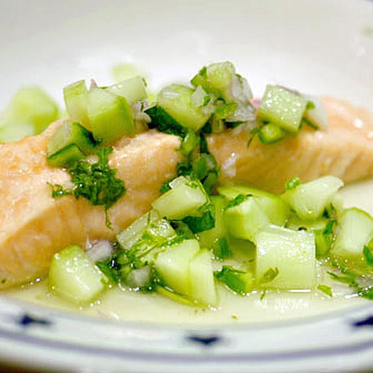 Salmon with Cucumber Chile Relish Recipe