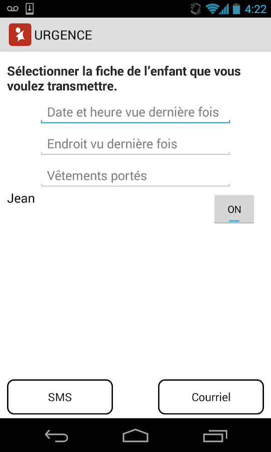 Enfant Alerte- screenshot