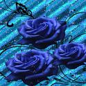 Glitter Blue Roses Live Wallpa icon