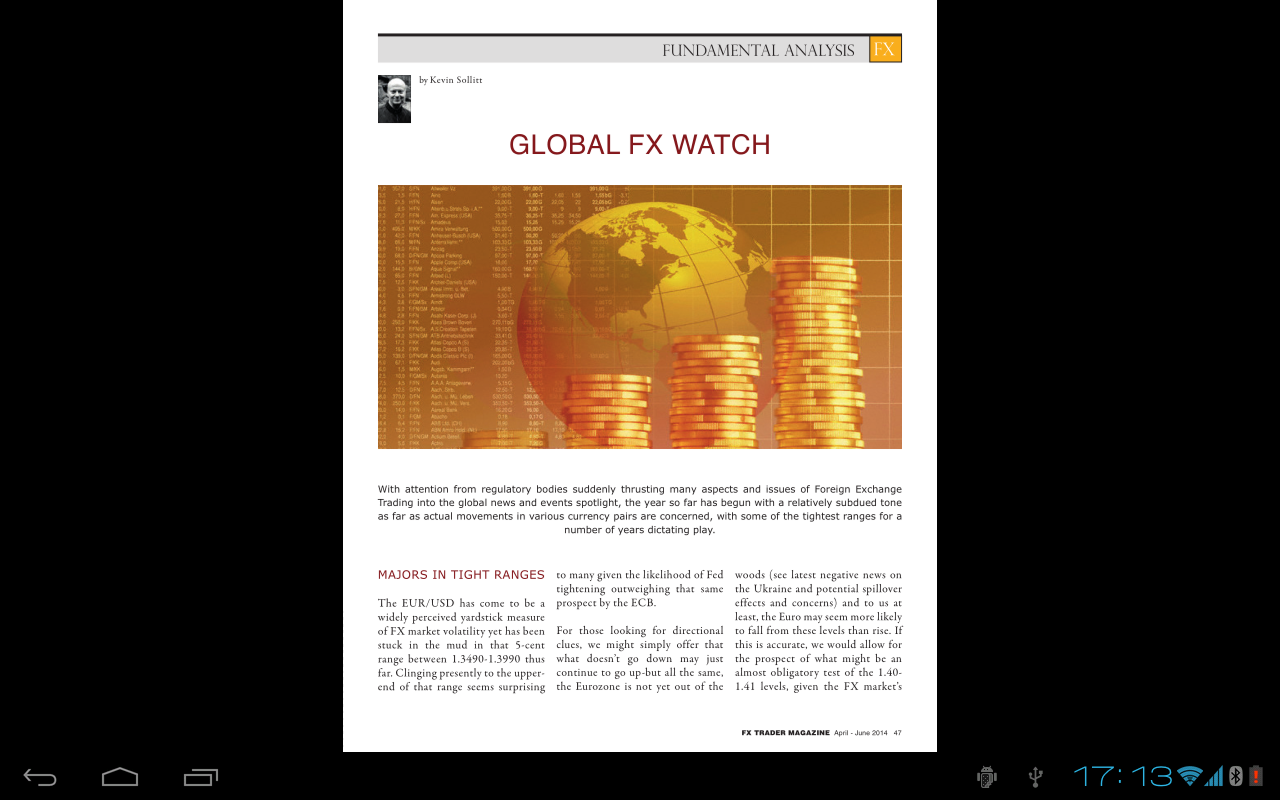 fx trader magazine screenshot. Resume Example. Resume CV Cover Letter