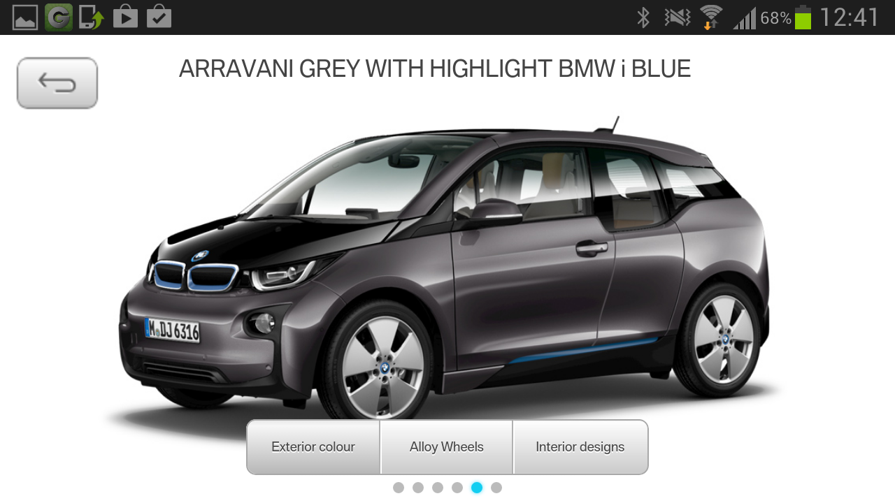 BMW i App - screenshot