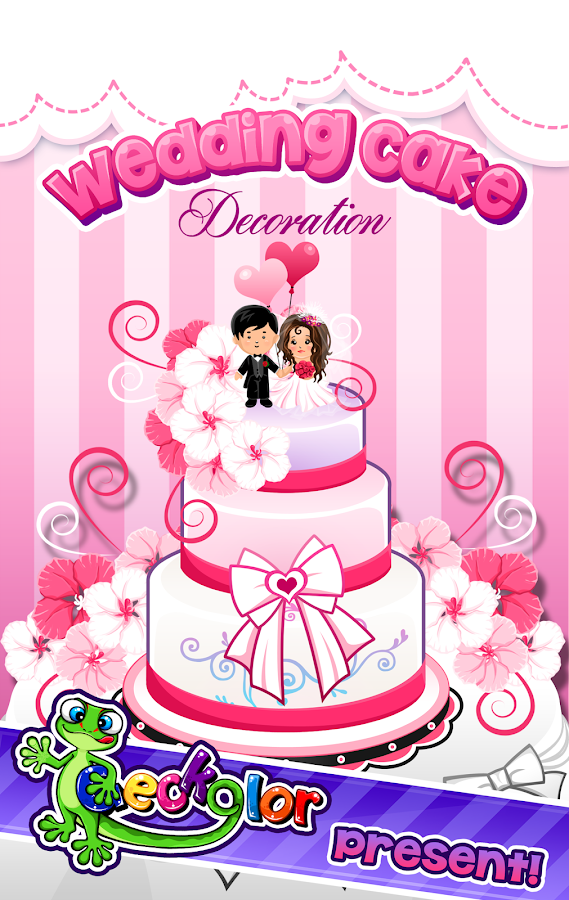 decoration games play realistic wedding cake decor