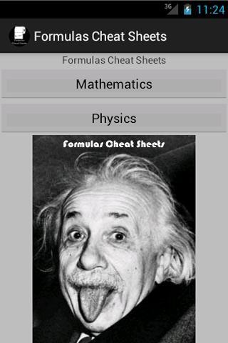 Formulas Cheat Sheets