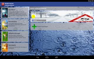 Screenshot of Wetterwarner