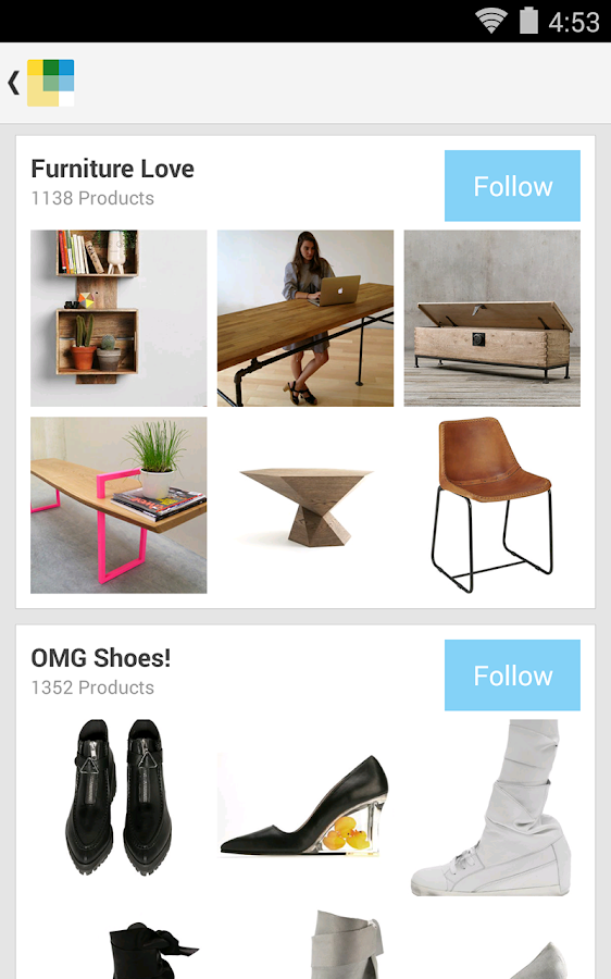Wanelo Shopping - screenshot