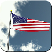 US Flag Flying Live Wallpaper