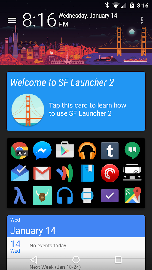 SF Launcher Plus Key - screenshot