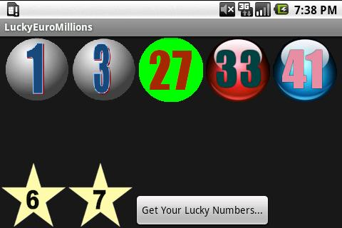 Lucky Numbers (Euro Mills) - screenshot