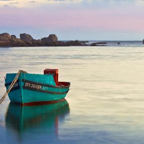 Peacefull by Adéle van Schalkwyk - Transportation Boats ( calm, bay, anchored, sea, ocean, boat )