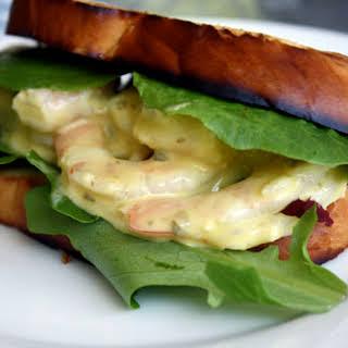 Shrimp, Arugula, and Caper Mayonnaise on Brioche.