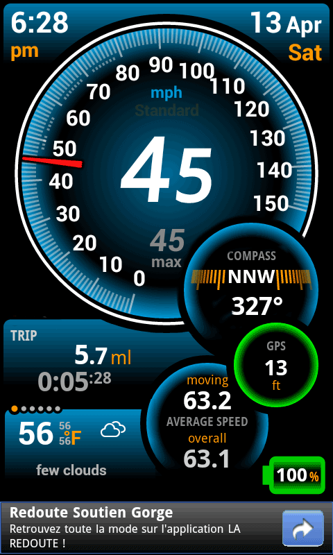Ulysse Speedometer- screenshot