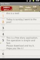 Screenshot of Easy Diary
