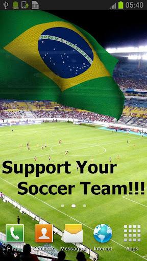 3D Brazil Flag Live Wallpaper+