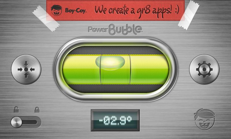 Power Bubble - spirit level - screenshot