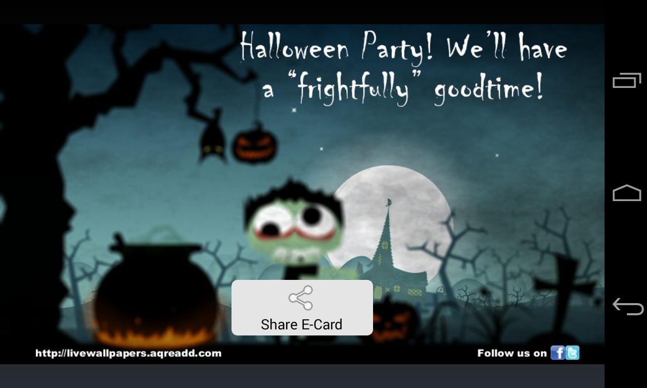 Halloween greetings android apps on google play halloween greetings screenshot kristyandbryce Images
