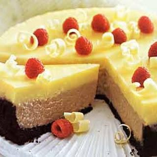 Double-Decker Raspberry and White Chocolate Cheesecake